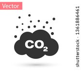 grey co2 emissions in cloud... | Shutterstock .eps vector #1361886461