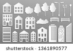 paper cut buildings. house... | Shutterstock .eps vector #1361890577