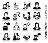 business people icons with...   Shutterstock .eps vector #136191341