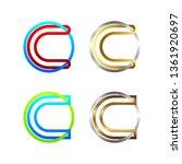 letter c line alphabet logotype ...   Shutterstock .eps vector #1361920697