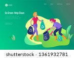 landing page template with...   Shutterstock .eps vector #1361932781