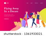 landing page template with... | Shutterstock .eps vector #1361933021