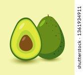 vector icon of avocado. avocado ... | Shutterstock .eps vector #1361934911