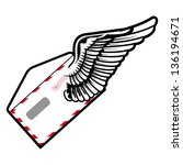 vector illustration of winged... | Shutterstock .eps vector #136194671