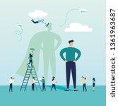 vector business illustration ... | Shutterstock .eps vector #1361963687