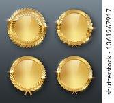 award golden blank medals 3d... | Shutterstock .eps vector #1361967917