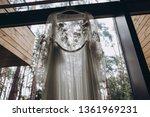 wedding dress of the bride... | Shutterstock . vector #1361969231