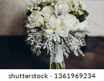 wedding bridal bouquet stands... | Shutterstock . vector #1361969234