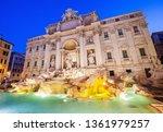 rome  italy. trevi fountain ...   Shutterstock . vector #1361979257