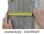 measurements with cassettes... | Shutterstock . vector #136198187