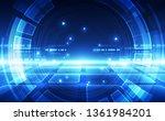 abstract futuristic digital...   Shutterstock .eps vector #1361984201