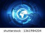 abstract digital technology... | Shutterstock .eps vector #1361984204