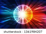 vector digital speed technology ... | Shutterstock .eps vector #1361984207