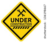 under construction road sign | Shutterstock .eps vector #136198667