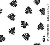black and white pattern of... | Shutterstock .eps vector #1361987174