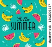 hello summer hand drawing style ... | Shutterstock .eps vector #1362008387