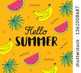 hello summer hand drawing style ... | Shutterstock .eps vector #1362008687
