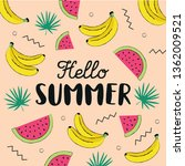 hello summer hand drawing style ... | Shutterstock .eps vector #1362009521