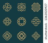 abstract ornament logo icon... | Shutterstock .eps vector #1362020927