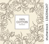 background with cotton  cotton... | Shutterstock .eps vector #1362046247