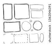 set of black hand drawn frames... | Shutterstock .eps vector #1362046391