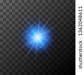 bright blue lighting effect... | Shutterstock .eps vector #1362048611
