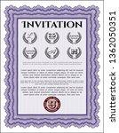 violet retro vintage invitation.... | Shutterstock .eps vector #1362050351