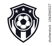 monochrome  football flat icon  ... | Shutterstock .eps vector #1362060227