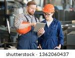 young female engineer in... | Shutterstock . vector #1362060437