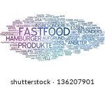 word cloud    fast food | Shutterstock . vector #136207901