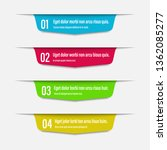 infographics banners. a vivid... | Shutterstock .eps vector #1362085277