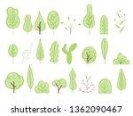 cartoon tree vector icons for... | Shutterstock .eps vector #1362090467