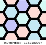 retro geometric hexagon... | Shutterstock .eps vector #1362100097