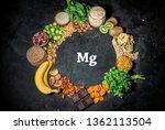 assortment of high magnesium... | Shutterstock . vector #1362113504