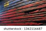 flag lichtenstein old wood...   Shutterstock . vector #1362116687