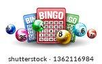 Vector Colorful Bingo Ball Wit...