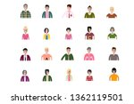 business man and woman icons.... | Shutterstock .eps vector #1362119501