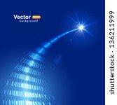flight to the star | Shutterstock .eps vector #136211999