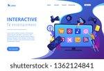 tiny people using smart... | Shutterstock .eps vector #1362124841