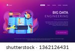 engineers consolidating and... | Shutterstock .eps vector #1362126431