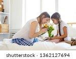 side view portrait of happy...   Shutterstock . vector #1362127694