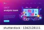 swot analysis team working on... | Shutterstock .eps vector #1362128111