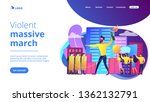 tiny people protesters against... | Shutterstock .eps vector #1362132791