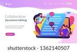 business team editing shared... | Shutterstock .eps vector #1362140507