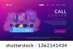 customer service operators with ...   Shutterstock .eps vector #1362141434