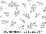 seamless leaves pattern. design ...   Shutterstock .eps vector #1362167057