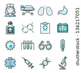 medicine icons set 02  harmony... | Shutterstock .eps vector #136217051