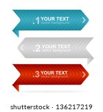 vector arrow headers ... | Shutterstock .eps vector #136217219