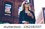 happy millennial hipster girl... | Shutterstock . vector #1362182537