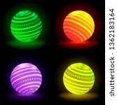 collection of glowing 3d balls...   Shutterstock .eps vector #1362183164